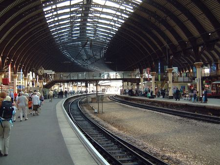 A general view of York Railway station in Yorkshire in England Stock Photo - 1851518