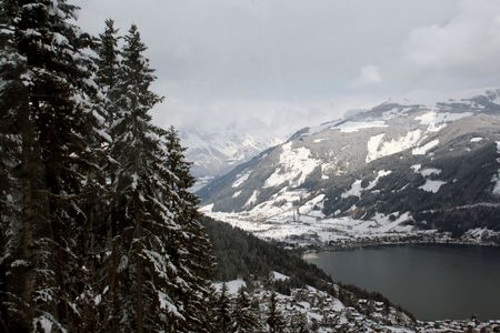 austrian: A general view of Zeller See lake pictured by the Austrian ski resort of Zell am See in Austria.