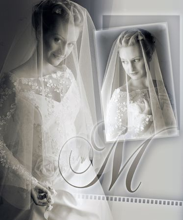 Wedding album front cover