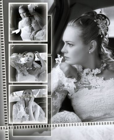brides wedding album front cover