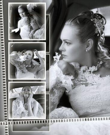 photo album: brides wedding album front cover
