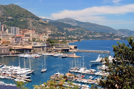 principality: Harbour pictured in principality of Monaco, southern France