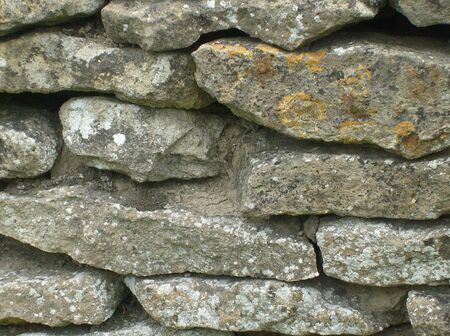 walling: English dry stone walling in rural countryside. Stock Photo