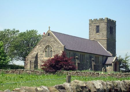 remoteness: Church in countryside scene, Yorkshire Dales, England.