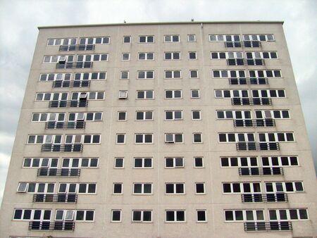 featureless: Urban inner city tower block, Bridlington, East YorkshireEngland.