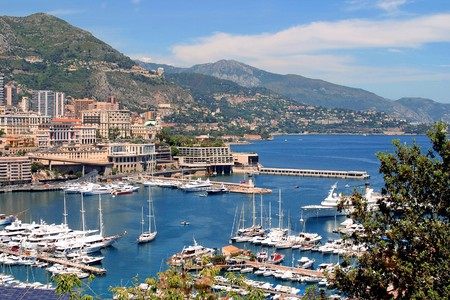 Harbour pictured in principality of Monaco, southern France photo