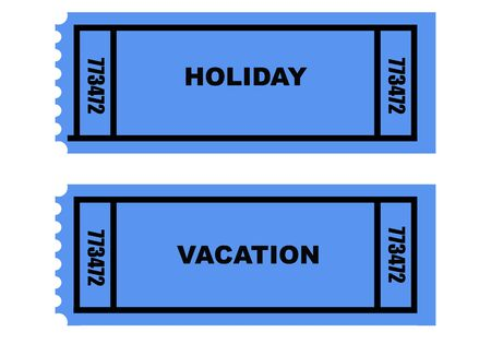 Illustration of two holiday and vacation tickets, isolated on white background. illustration