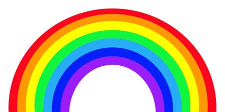 phenomena: Colorful Rainbow isolated on white background.
