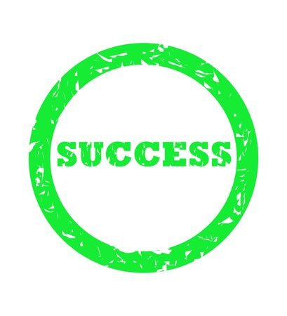 Used green success stamp isolated on white background. Stock Photo - 5048389