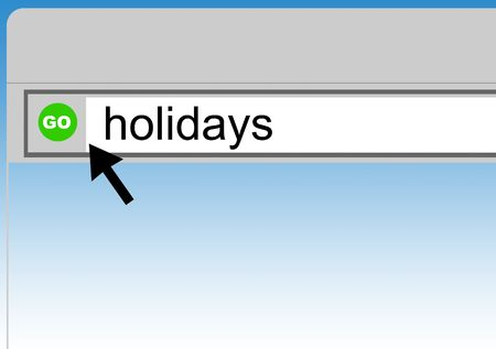 World Wide Web browser background with word holidays and cursor arrow. Stock Photo - 5083756