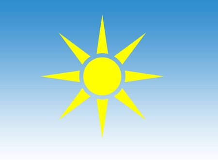 graduated: Yellow sun in blue graduated sky.