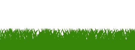 Green grass background isolated over white. Stock Photo - 5164072