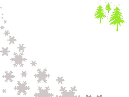 bordering: Snowing Christmas background, isolated on white with copy space.