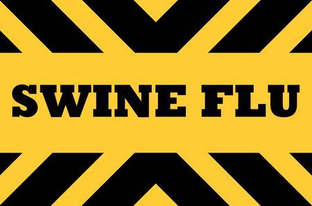 viral strain: Swine flu road traffic hazard sign.