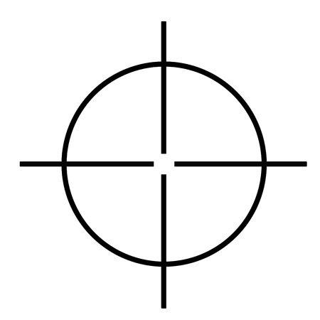 viewfinder: Mirino fucile da cecchino isolato su sfondo bianco.