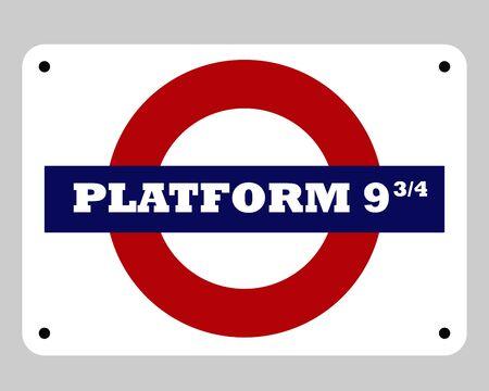 harry: London railway platform 9 and 34 sign Stock Photo
