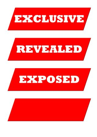 tabloid: Sensational tabloid newspaper banner headline isolated on white with copy space.