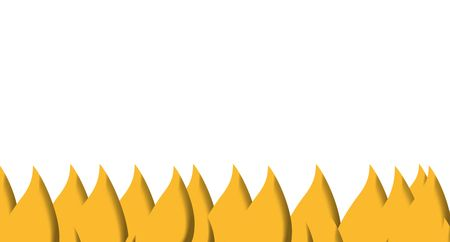 embers: Illustration of burning fire isolated on white background.