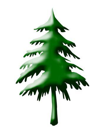 Christmas tree isolated on white background. Stock Photo - 5317125