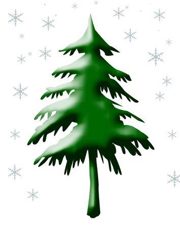 Christmas tree isolated on white background. Stock Photo - 5351129