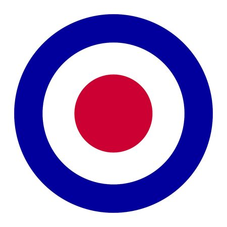 royal air force: British Royal Air Force roundel, also used as symbol of mod music.