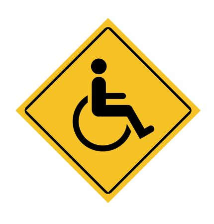 Disabled sign isolated on a white background. photo