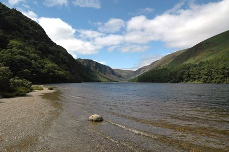 Scenic view of picturesque lake and mountains in Country Wicklow, Ireland. Stock Photo - 5580004