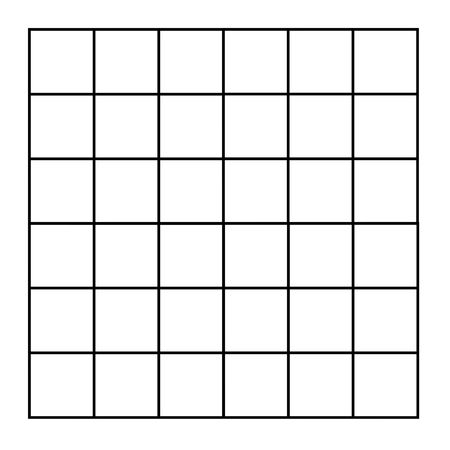 gridwork: Grid of blank square isolated on white background.