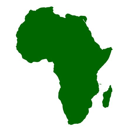 african business: Outline map of continent of Africa