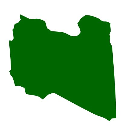 Outline map of Libya Stock Photo - 5800733