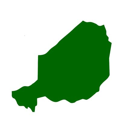 niger: Outline map of Niger Stock Photo