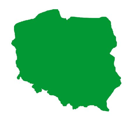 Red outline map of Poland  Stock Photo - 5800741