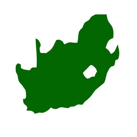 south african: Outline map of Republic of South Africa Stock Photo