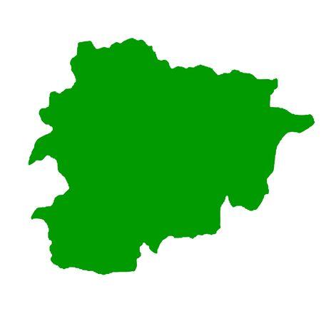 Map of Andorra isolated on white background. Stock Photo - 6110414