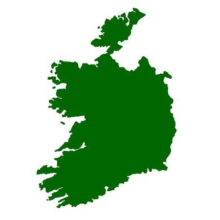 Map of Ireland isolated on white background. photo