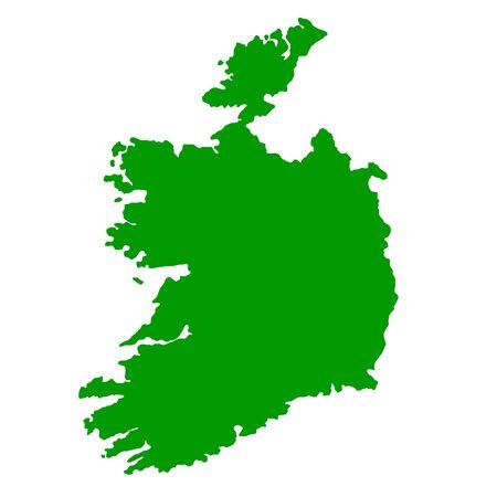 Map of Republic of Ireland isolated on white background. photo