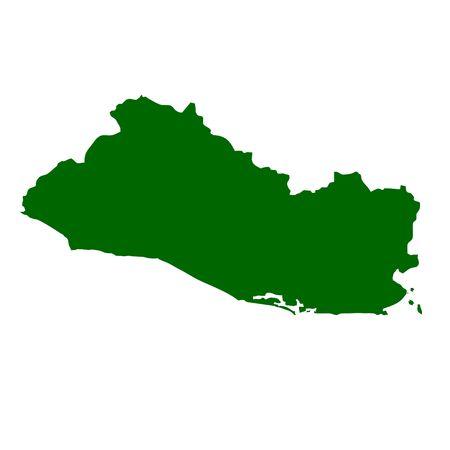 mapa de el salvador: Mapa del Salvador, aislado sobre fondo blanco.