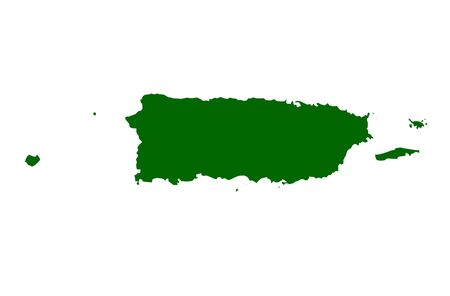 Map of Puerto Rico, isolated on white background. photo