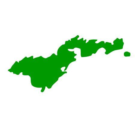 samoa: Map of American Samoa, isolated on white background.