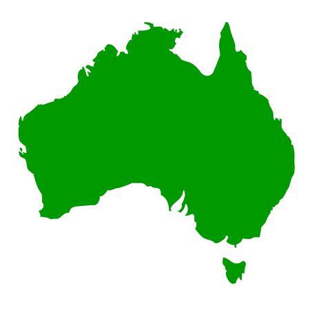 oceana: Map of Australia, isolated on white background.
