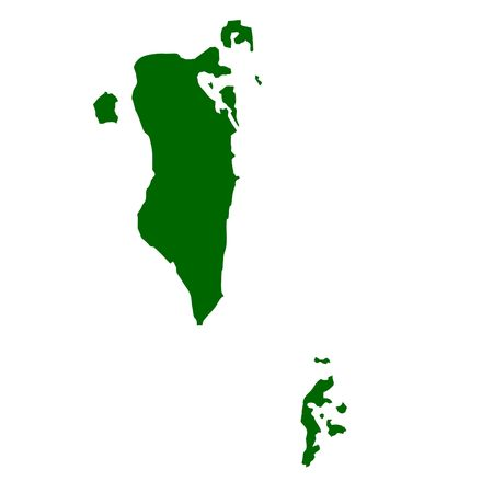 Bahrain map isolated on white background. photo