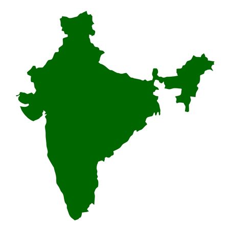 map of india: India map isolated on white background.