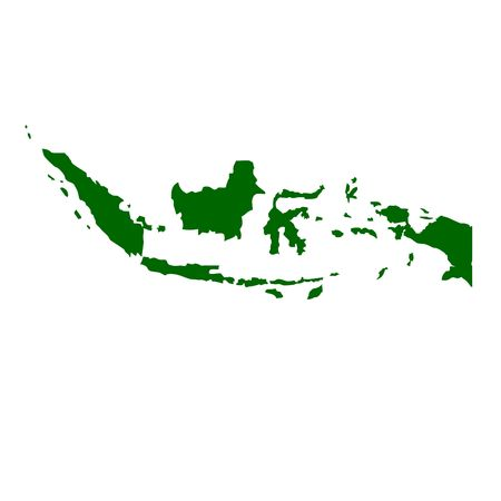 territories: Indonesia map isolated on white background. Stock Photo
