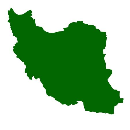 far east: Islamic Republic of Iran map isolated on white background.
