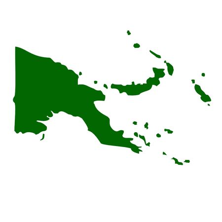 far east: Papua New Guinea map isolated on white background. Stock Photo