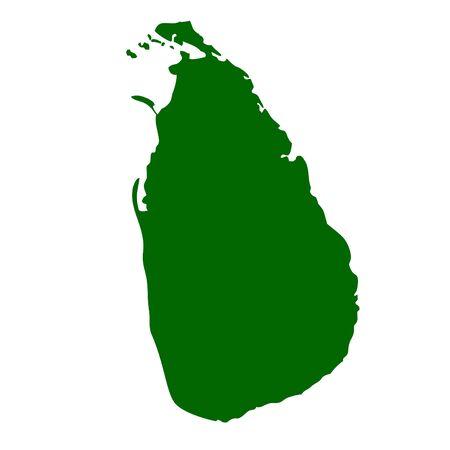 lanka: Sri Lanka map isolated on white background.
