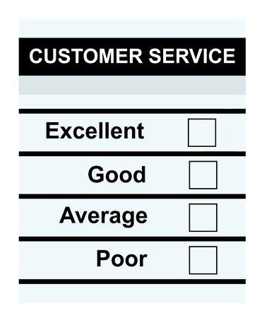 questionaire: Formulario de servicio al cliente en blanco o cuestionario con cajas vac�as, aislado sobre fondo blanco.