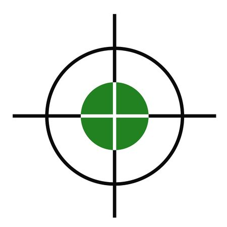 sight: Illustration of rifle or gun cross hairs target sight. Stock Photo