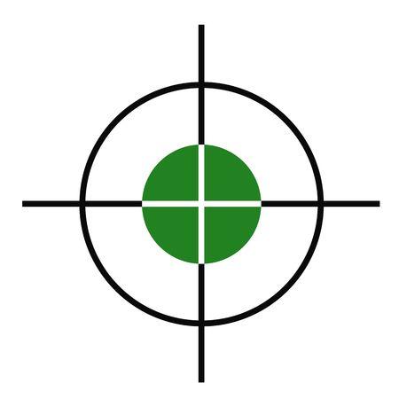 Illustration of rifle or gun cross hairs target sight. Standard-Bild