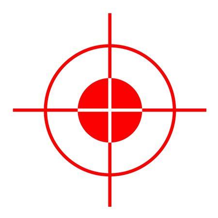 De rode dwarsharen van het kanongezicht, die op witte achtergrond worden geïsoleerd. Stockfoto